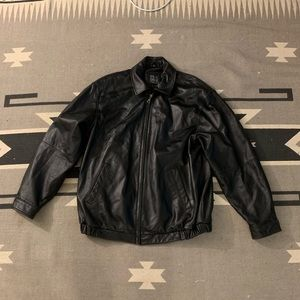 Black Jos. A. Bank 100% Lamb Leather Jacket